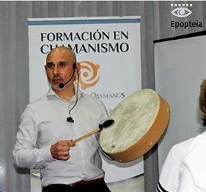 Martín Ribes facilitando viaje chamánico
