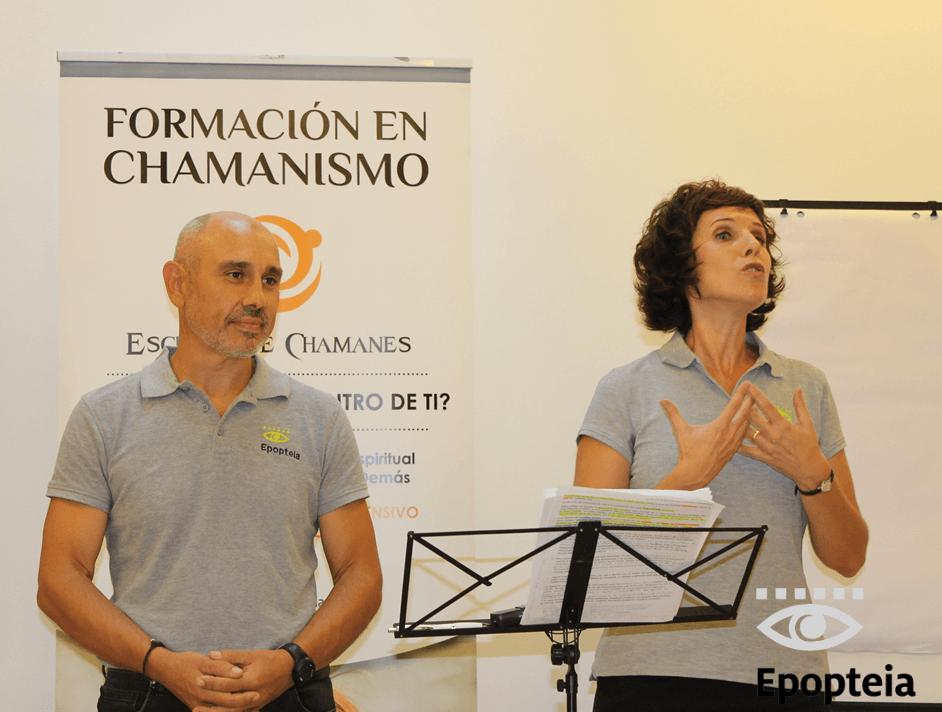 Martín y Ana formadores en chamanismo