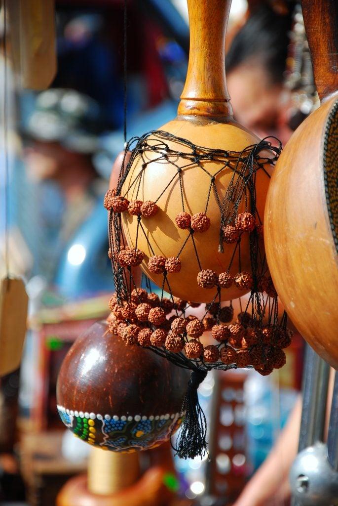 La maraca como instrumento para rituales chamánicos